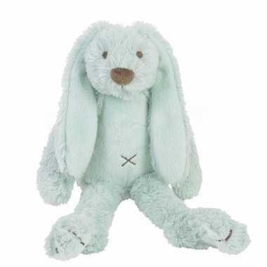 Baby konijnen knuffel richie mintgroen speelgoed