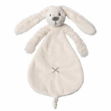 Baby konijnen knuffeldoekje richie wit speelgoed