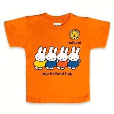 Baby kraamkado shirt nijntje oranje speelgoed