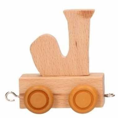 Baby  Letter speelgoed treintje J