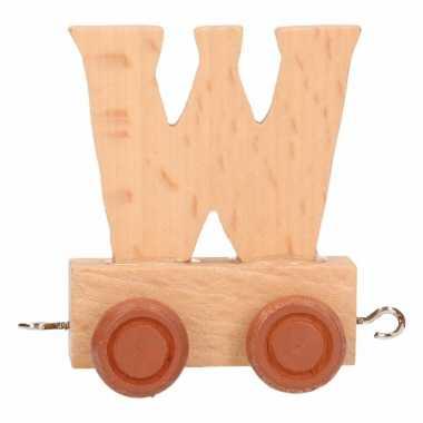 Baby  Letter speelgoed treintje W