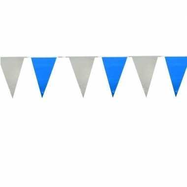 Baby  Licht blauw/witte buiten vlaggetjes speelgoed