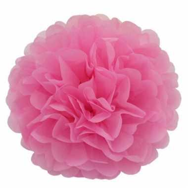 Baby  Lichtroze bloem pompom speelgoed