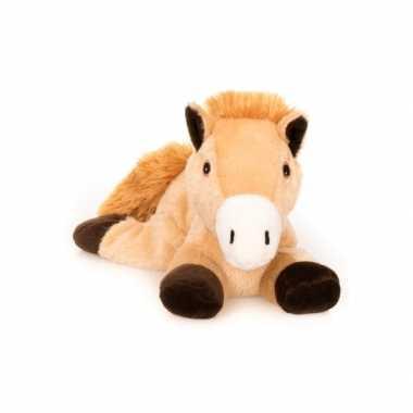 Baby magnetron bruin paard knuffeldier speelgoed