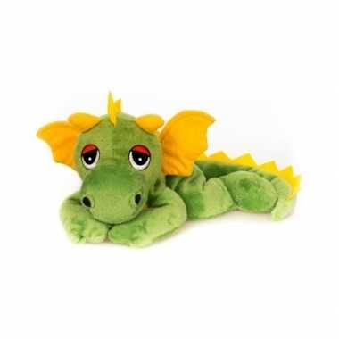 Baby magnetron groen draken knuffeldier speelgoed