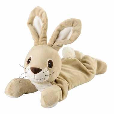 Baby magnetron liggende konijn knuffeldier speelgoed