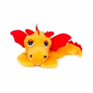 Baby magnetron oranje draken knuffeldier speelgoed