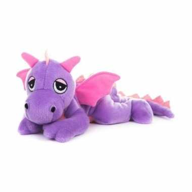 Baby magnetron paars draken knuffeldier speelgoed