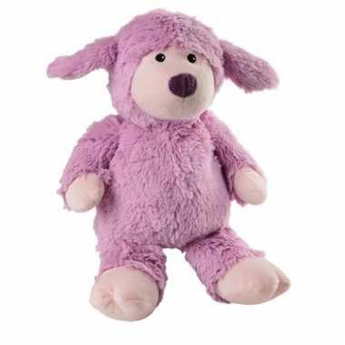 Baby magnetron paars lammetje knuffeldier speelgoed