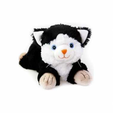 Baby magnetron zwart/witte kat knuffeldier speelgoed
