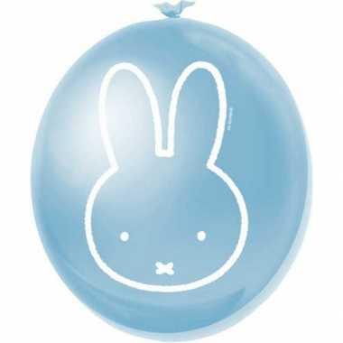 Baby  Nijntje feest thema ballonnen blauw speelgoed