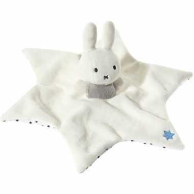 Baby nijntje tuttel knuffeldoekje wit grijs speelgoed