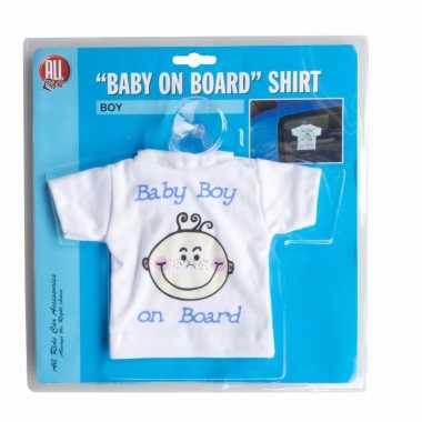 Baby on board t-shirt zuignap jongen speelgoed