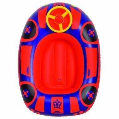 Baby opblaasbaar peuter kinderbootje auto rood speelgoed