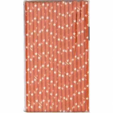 Baby oranje artikelen rietjes papier speelgoed