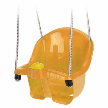 Baby oranje peuterschommel touw speelgoed