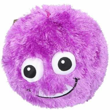 Baby paarse pluche bal gezicht speelgoed