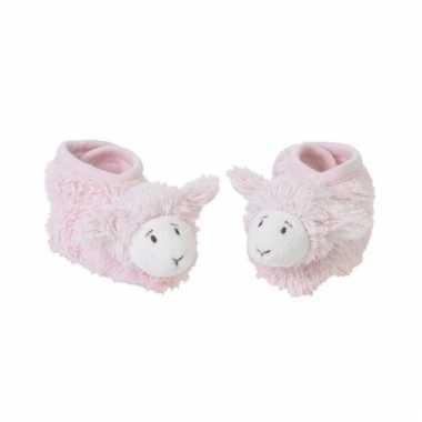 Baby pantoffels lammetje roze speelgoed