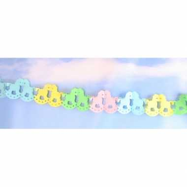 Baby  Papieren hobbelpaard slinger gekleurd meter speelgoed