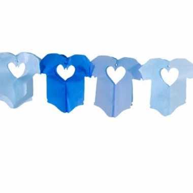 Baby  Papieren slinger blauwe rompertjes speelgoed