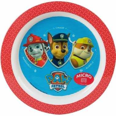 Baby paw patrol ontbijtset bord rood speelgoed