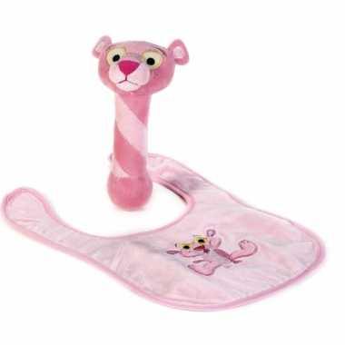 Baby pink panter kraamkado gifstet speelgoed