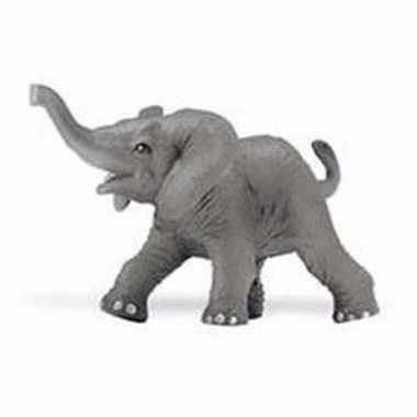 Baby plastic afrikaanse olifant kalf gestrekte slurf speelgoed