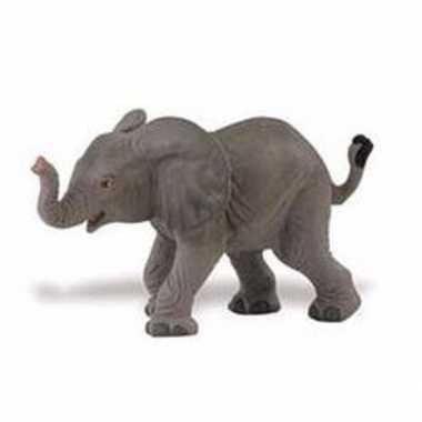 Baby plastic afrikaanse olifant kalfje speelgoed