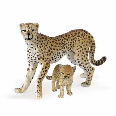Baby plastic jachtluipaard welpje speelgoed