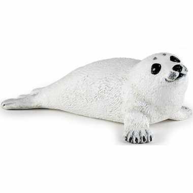 Baby plastic liggend zeehond pup speelgoed