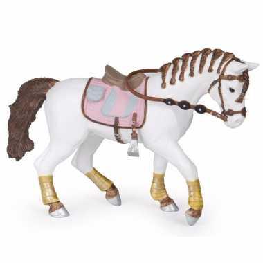 Baby plastic paard gevlochten manen . speelgoed