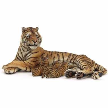 Baby plastic tijgerin zogende welpen , speelgoed