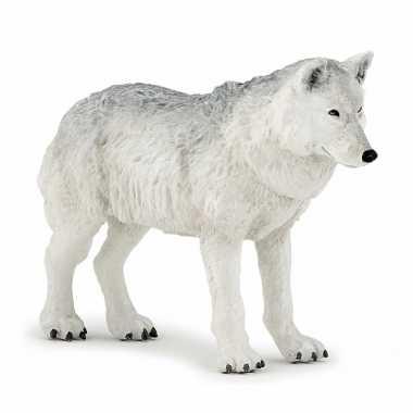 Baby plastic witte wolf , speelgoed
