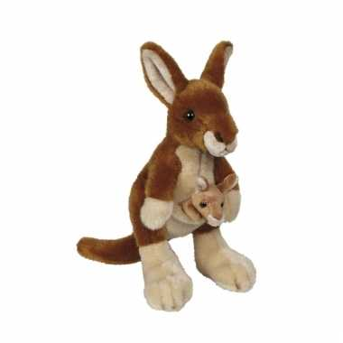 Baby  Pluche kangoeroe knuffel speelgoed