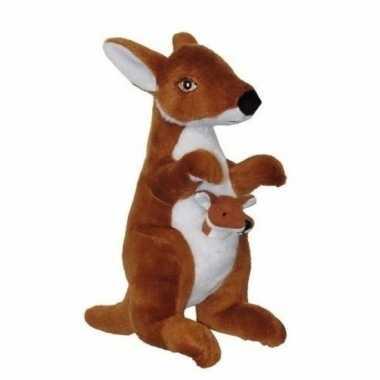 Baby pluche kangoeroe knuffels speelgoed