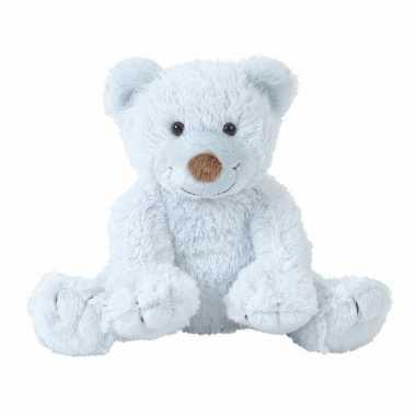 Baby pluche knuffel beer boogy blauw speelgoed