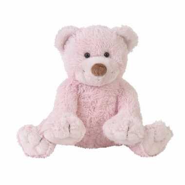 Baby pluche knuffel beer boogy roze speelgoed