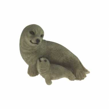 Baby polystone beeldje zeehond speelgoed 10068998
