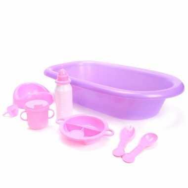 Baby poppen speelgoed badset