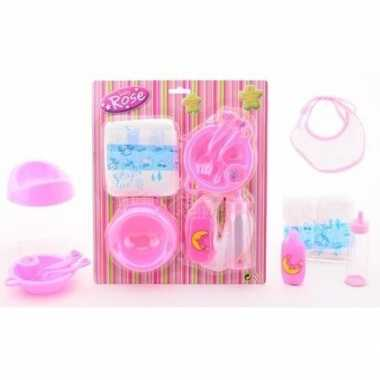 Baby poppen speelgoed verzorgingsset