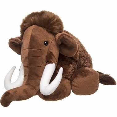 Baby prehistorische dieren knuffels mammoet bruin speelgoed