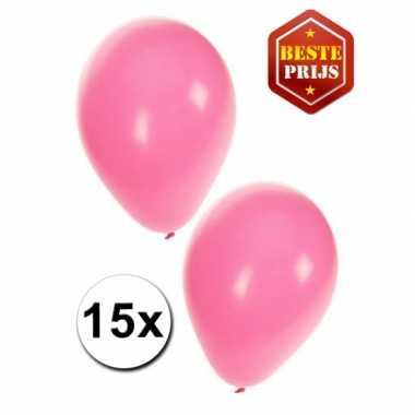 Baby roze ballonnen x speelgoed