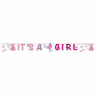 Baby roze geboorte letterslinger speelgoed