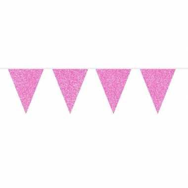 Baby roze glitter vlaggenlijn meter speelgoed