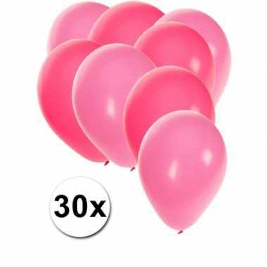 Baby  Roze lichtroze feestballonnen x speelgoed
