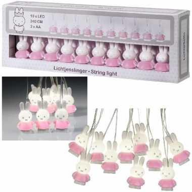 Baby roze nijntje verlichting slingers speelgoed