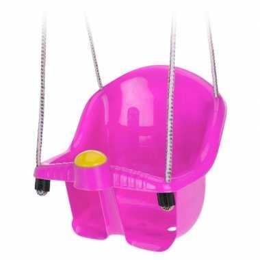 Baby roze peuterschommel touw speelgoed