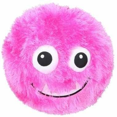 Baby roze pluche bal gezicht speelgoed