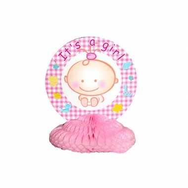 Baby roze tafeldecoratie speelgoed