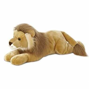 Baby safaridieren knuffels leeuw bruin speelgoed